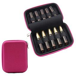 10-OrangeGogobag Essential Oil Carrying Case for 10 Bottles