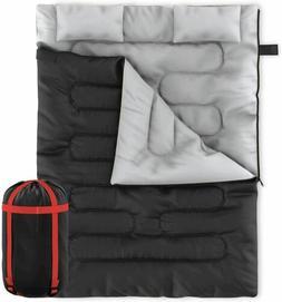 Zone Tech 2 In 1 Travel Camp Sleeping Bag Queen Size Sleepin