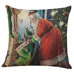 AutumnFall 45X45CM 2017 New Santa Claus 9 Patterns Christmas