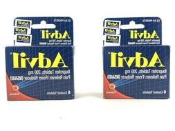 2pack - Advil Tablets Travel Size - 6ct. Each Packs. Pain Re