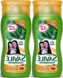2x SAVILE Aloe Pulp & Honey Fall Control Shampoo Travel Size