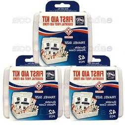 3 Pack 42 PC Essential First Aid Kit Emergency Bag Home Car