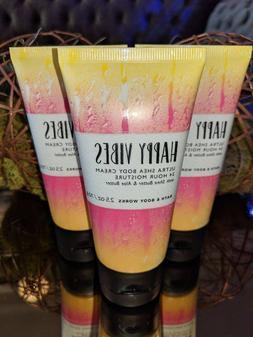 3 Bath & Body Works HAPPY VIBES Ultra Shea Body Cream Lotion