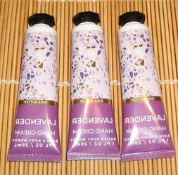 3 Bath & Body Works LAVENDER Mini Hand Cream Shea Butter Tra