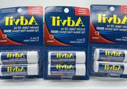 3 PACK Advil Ibuprofen 2 Vials 10 Coated Tablets Fever Reduc