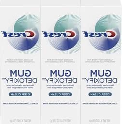 3-Pack 4.1oz Crest Gum Detoxify Toothpaste