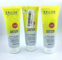 3 Pack / Acure Organics Brightening Facial Scrub / 4 oz / Ne