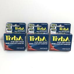 3 PK Lot Advil Tablets Travel Size 6 Ct. Each PK Headache Pa