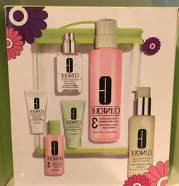 CLINIQUE 3-STEP SKIN CARE SYSTEM FULL SIZE & TRAVEL SET 3 $9