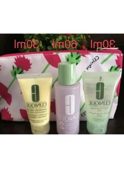 Clinique 3-Step Skin Care Travel Set #2 Liquid Soap Mild Cla