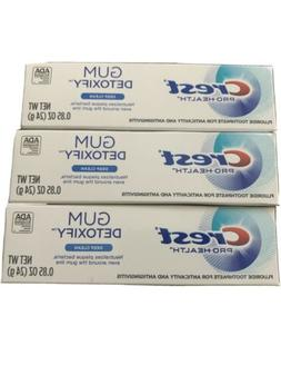 3 x Crest Gum Detoxify Deep Clean Toothpaste - 0.85oz Travel
