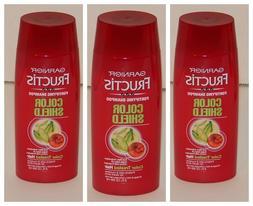 3x Garnier Fructis Color Shield Shampoo Travel Size 3 oz New