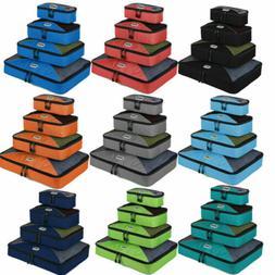 4 Pcs/Set Nylon Packing Cubes Travel Luggage Clothes Bag Org