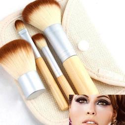 4pcs Pro Makeup Kabuki Brushes Cosmetic Blush Brush Foundati