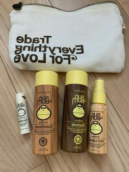 5-Pc Sun Bum Shampoo & Conditioner Hair Care Spray Lip Balm