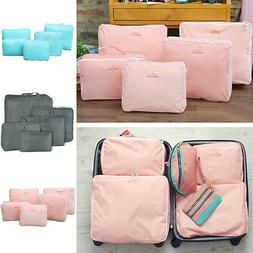 5 Pcs Travel Storage Bags Waterproof Clothes Packing Cube Lu
