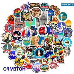 50pcs <font><b>Travel</b></font> Decorative Adhesive Sticker