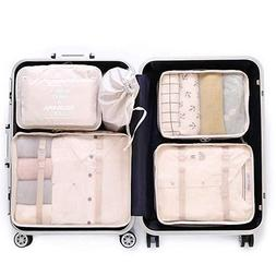 OEE 6 pcs Luggage Packing Organizers Packing Cubes Set for T