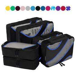 6 Set Packing Cubes,3 Various Sizes Travel Luggage Packing O