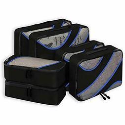 6 Set Packing Organizers Cubes, 3 Various Sizes Travel Lugga