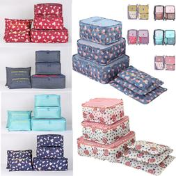 6 Size Waterproof Travel Cloth Storage Bags Luggage Organize