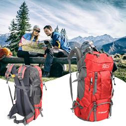 60L Outdoor Hiking Backpack Camping Shoulder Bag with Rain C