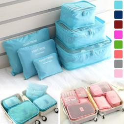 6Pcs Waterproof Clothes Storage Bags Travel Luggage Packing
