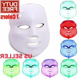 7 Color Lights LED Photon Therapy Mask Facial Mask For Anti-