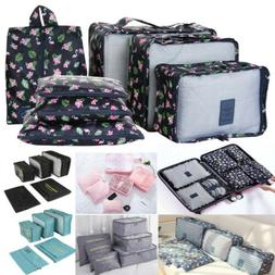 7PCS Multi-size Clothes Travel Storage Bags Packing Cube Lug