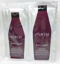 8 Redken Real Control Shampoo and Conditioner .35 oz. ea. Tr