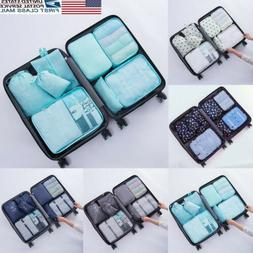 8Pcs Clothes Underwear Socks Packing Travel Luggage Organize