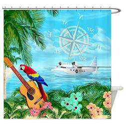 CafePress - Tropical Travels - Decorative Fabric Shower Curt