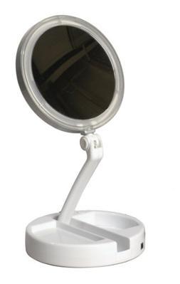 Floxite 7504-12l 12x LED Lighted Folding Vanity and Travel M