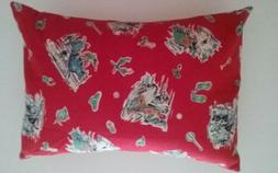 Handmade Flannel Travel Toddler Size Pillowcase Western Prin