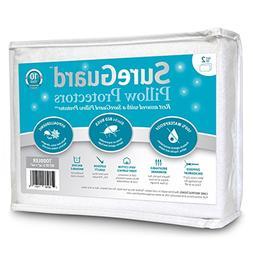 Set of 2 Travel Size SureGuard Pillow Protectors - 100% Wate