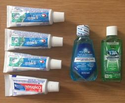 Travel Size Colgate & Crest Toothpaste With Mouthwash