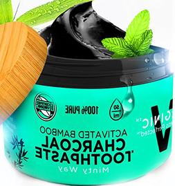 Activated Charcoal Toothpaste Teeth Whitening 2 OZ Natural B