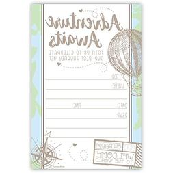 Adventure Travel Baby Shower Invitations  with Envelopes