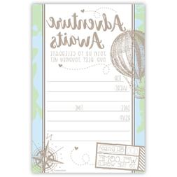 Adventure Travel Baby Shower Invitations 20 Count with Envel