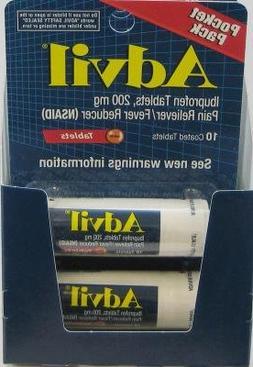 Advil Tablets Travel Vial 10-Count