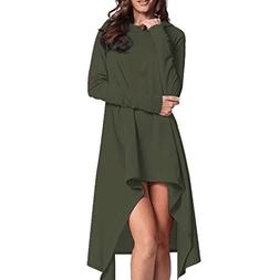 AutumnFall Women's Asymmetric Hem Long Sleeve Hoodies Sweats
