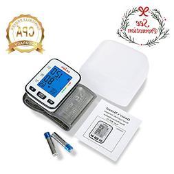 Automatic Blood Pressure Monitor Wrist Cuff Machine, Large D