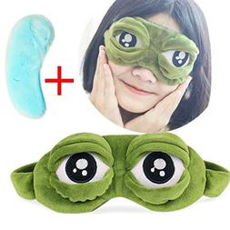 AutumnFall Cute Frog Sleep Mask 1Pack Sleeping Masks 3D Cont