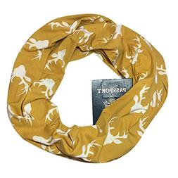 AutumnFall Women Convertible Infinity Scarf with Pocket Patt