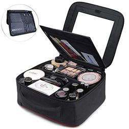 TOPSEFU Makeup Bag, Quick Make up Bag with Mirror and Jewelr