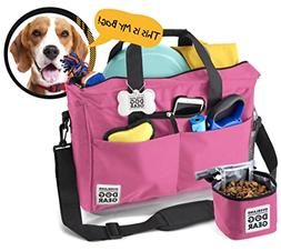 Dog Travel Bag - Day Away Tote Dogs - Includes Bag, Lined Fo