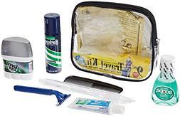 Men'S Travel Bag 9 Piece Clear