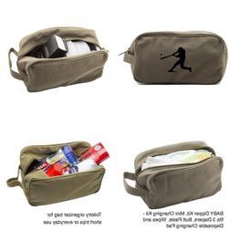 Baseball Player Canvas Shower Kit Travel Toiletry Bag Case i