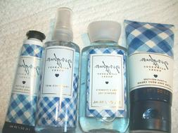 Bath & Body Works Gingham Hand Body Cream Shower Gel Mist Se