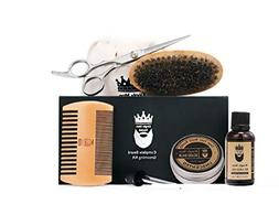 Beard Kit All Natural | Nutrient Rich Unscented Beard Oil &